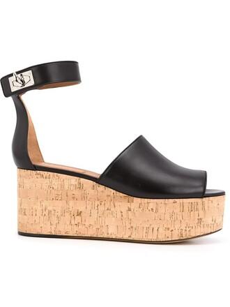 shark sandals wedge sandals black shoes