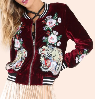 jacket girl girly girly wishlist suede velvet velvet jacket red print bomber jacket varsity jacket