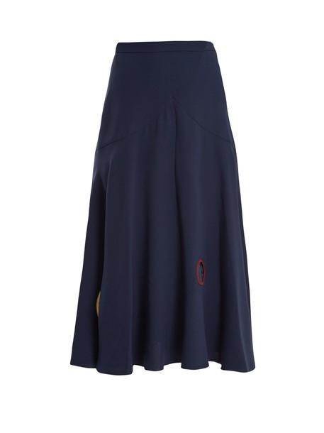 Roksanda skirt silk navy