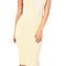 Emprada - beige mock neck midi dress | emprada