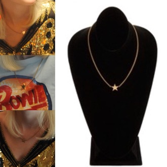 jewels stars the runaways cherie currie rock dakota fanning girl gold fashion cool necklace