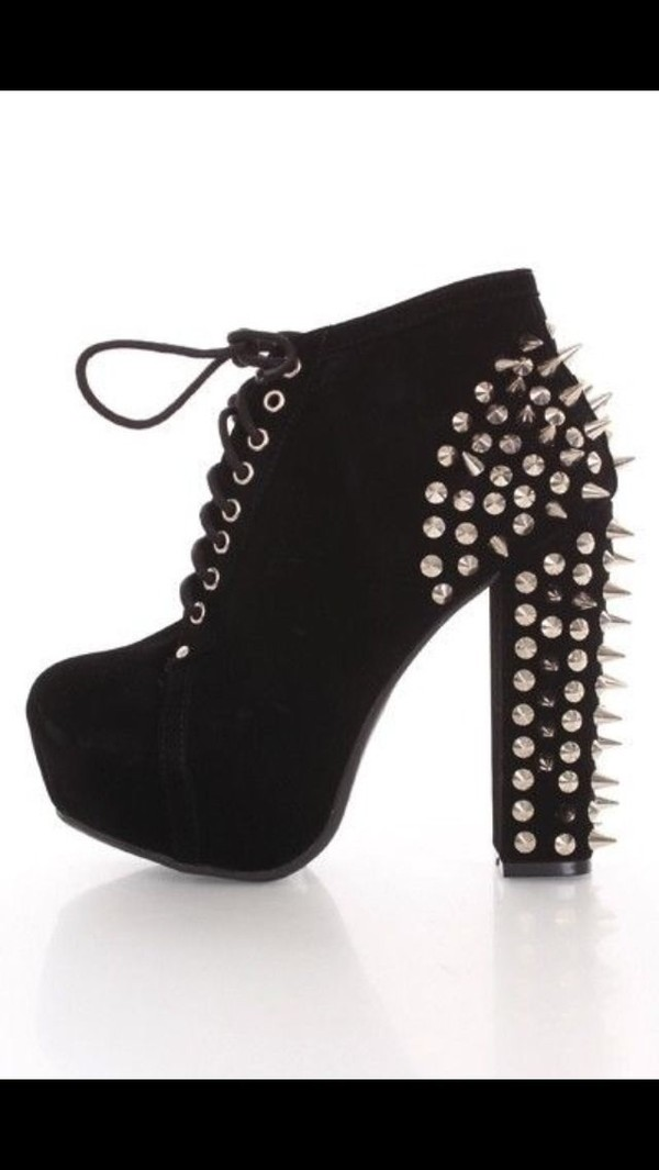 shoes spiked pumps bag punk heels love em