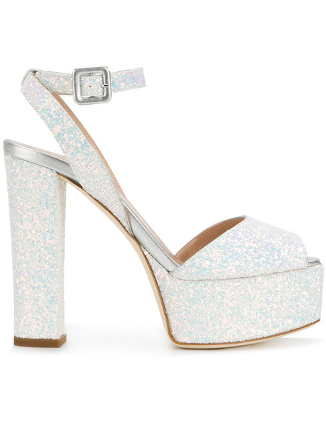 GIUSEPPE ZANOTTI DESIGN glitter women sandals platform sandals leather shoes