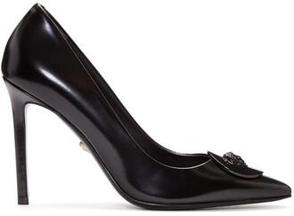 heels leather black black leather shoes