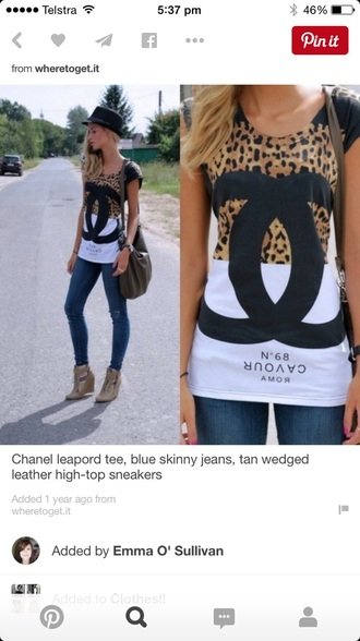 t-shirt chanel inspired