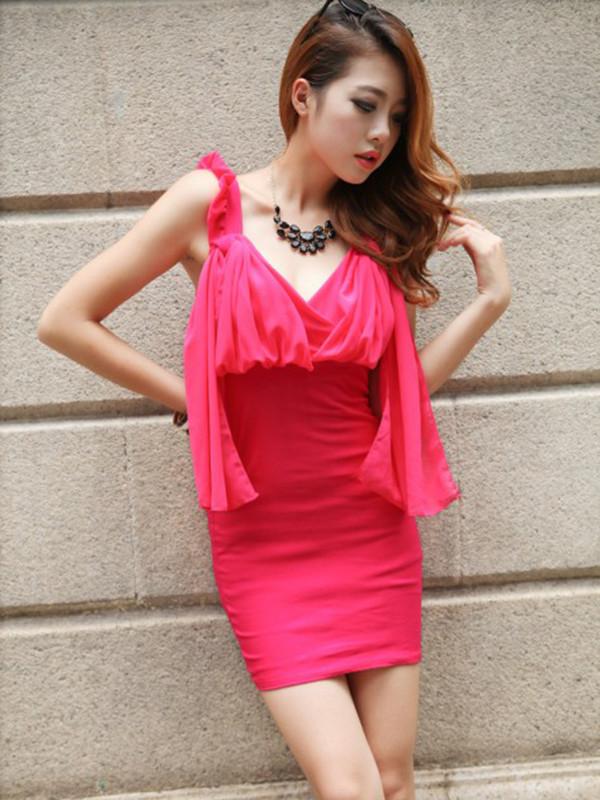 dress sexy hot red dress club dress hot pink dress