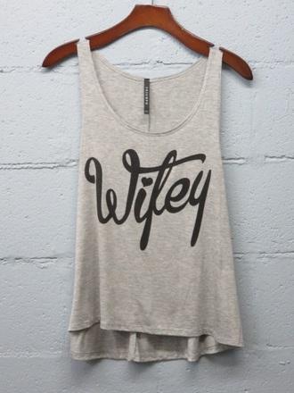 shirt wifey grey tank top