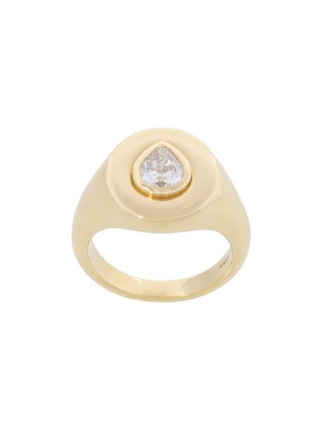 Jemma Wynne women ring gold yellow grey metallic jewels