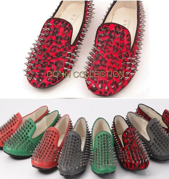 937e49ec3f3 red loafers with spikes