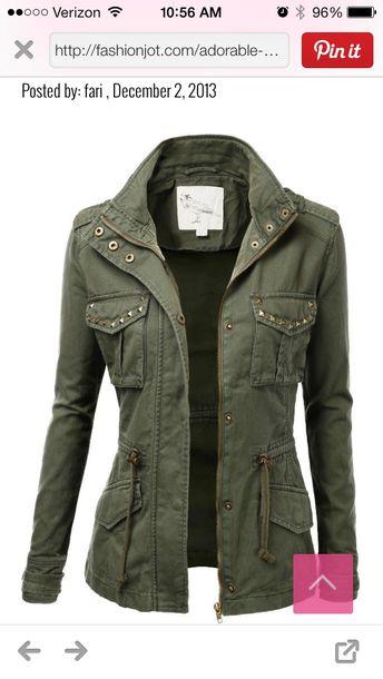 jacket supernatural green army green jacket army green cool studded jacket coat