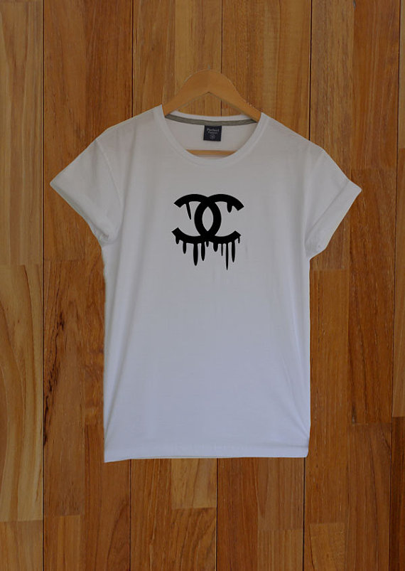 CC Dripping Chanel Shirt C&C Drip Cocaine and Caviar by CelebriTee