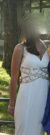 dress,white,prom,sequins,pretty,white dress