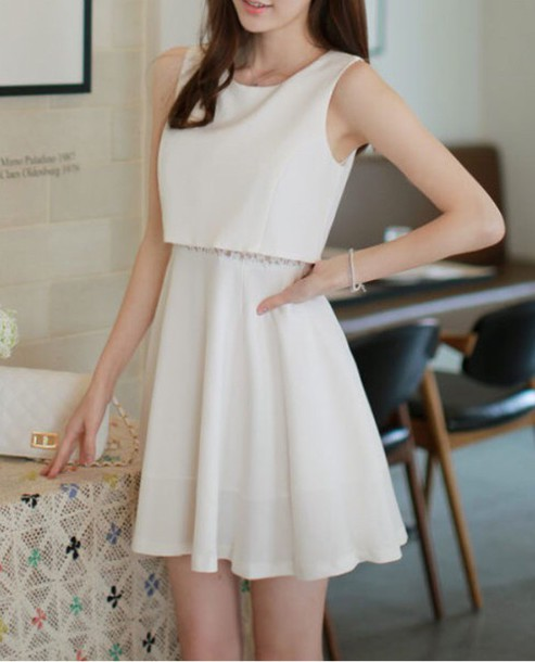 dress white sleeveless dress