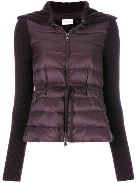 moncler jacket women wool purple pink
