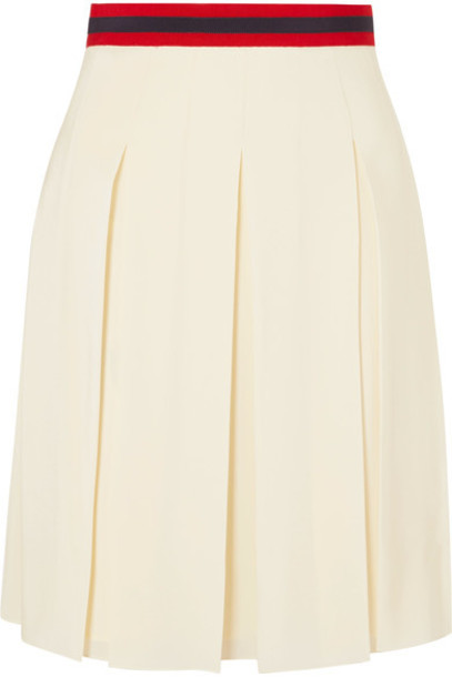 skirt pleated silk