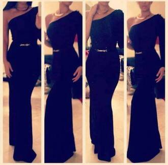 dress long black dress one shoulder dress maxi dress little black dress prom dresse evening dress belted dress belted maxi dress long sleeve dress