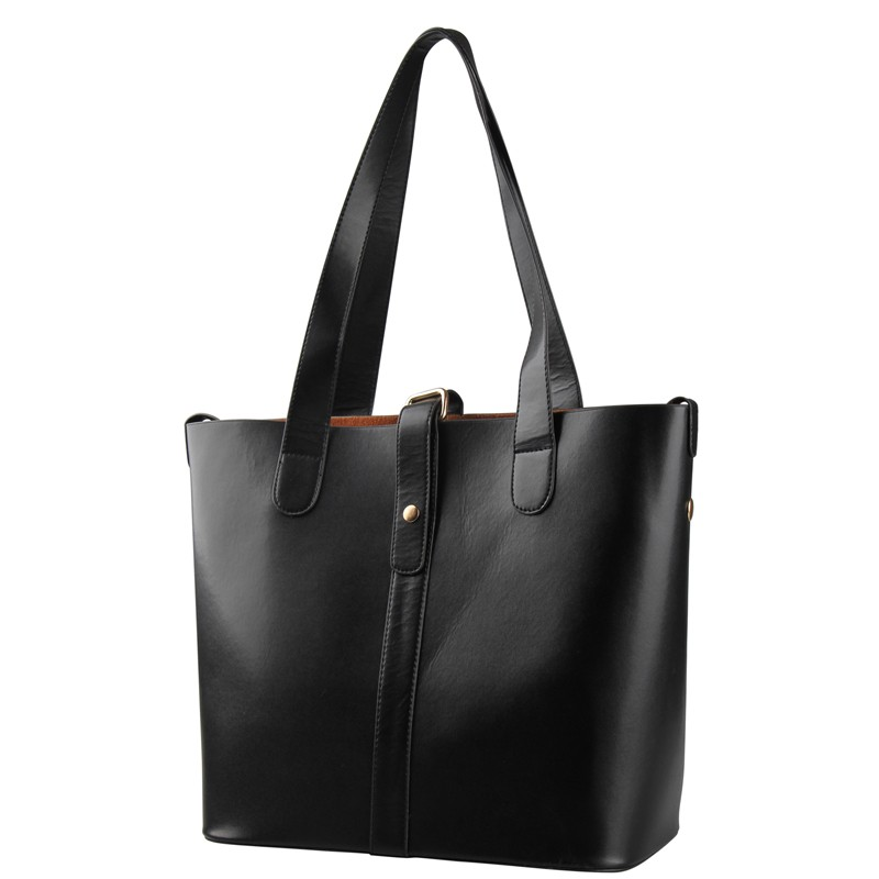 Simple design chic women leather tote bag