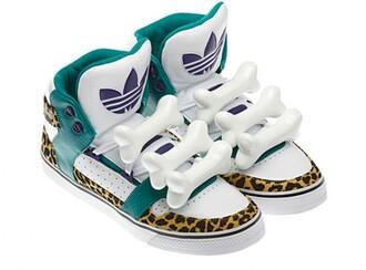 shoes flintstones jeremy scott lil wayne leopard print bones sneakers streetwear