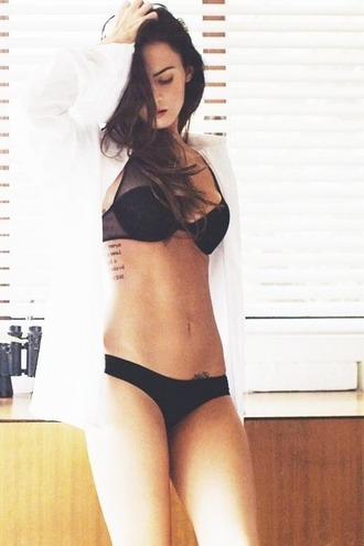 underwear bra megan fox black underwear transparent meagan good