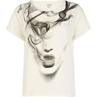 shirt t-shirt cream