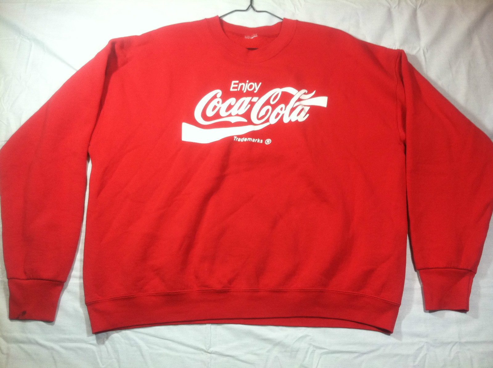 Vtg 90s coca cola enjoy classic coke sweatshirt indie mens red