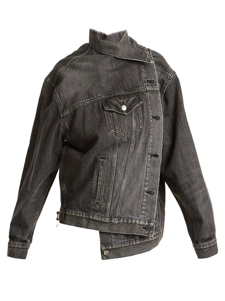 Balenciaga jacket denim jacket denim black