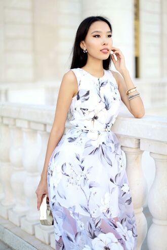 aibina's blog blogger clutch floral dress