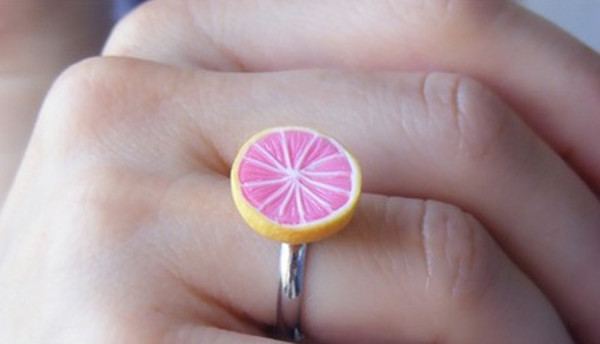 jewels pink lemonade cute ring