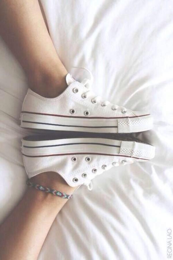 jewels aztec converse white colorful bracelets shoes converse white converse sneakers green rose violet