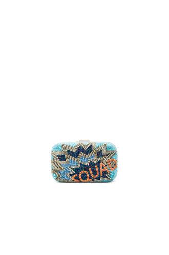 squad clutch blue bag