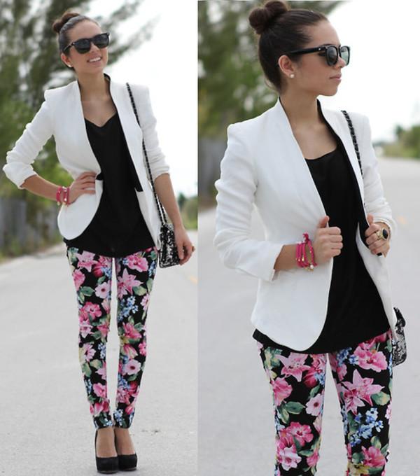 pants jeans skirt flor fleurie pants floral jacket