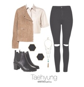 blouse,clothes,jeans,boots,kpop,bangtan,bangtan sonyeondan,kim taehyung,v kim taehyung,jacket,earrings,necklace,shoes,jewels,jewelry,boho,boho jewelry,layered