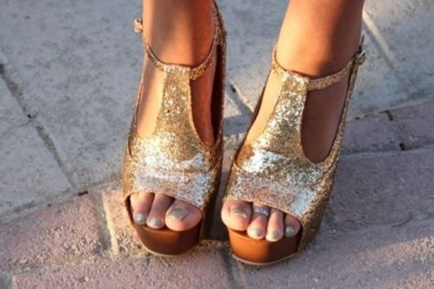 Glitter Wedge Shoes Shoes Glitter Wedges Sparkle
