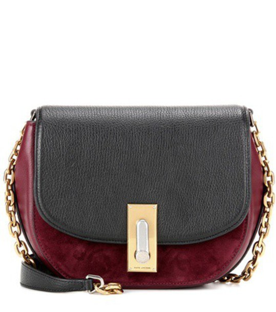 Marc Jacobs West End Jane Leather And Suede Crossbody Bag in red