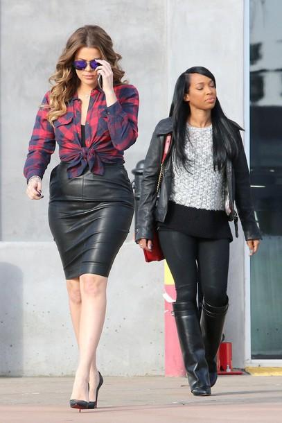 blouse khloe kardashian skirt