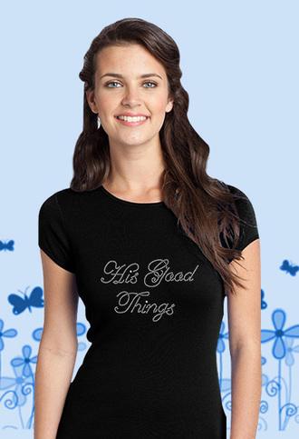 t-shirt christian black rhinestones