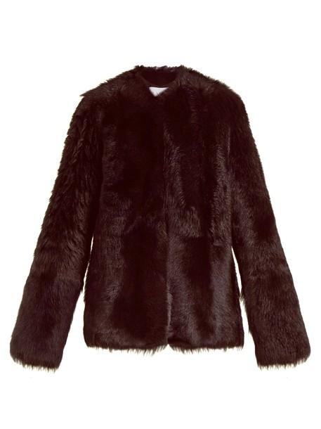 Raey coat burgundy