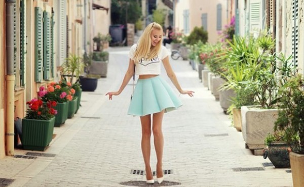 skirt skater skirt girly cute outfits tumblr outfit