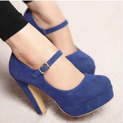Heeled shoes fabric surface shoes