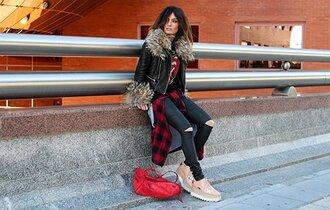 madame rosa blogger t-shirt pants shirt bag jacket jewels
