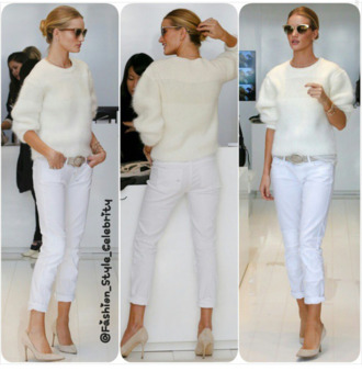 beige shoes all whites rosie huntington-whiteley