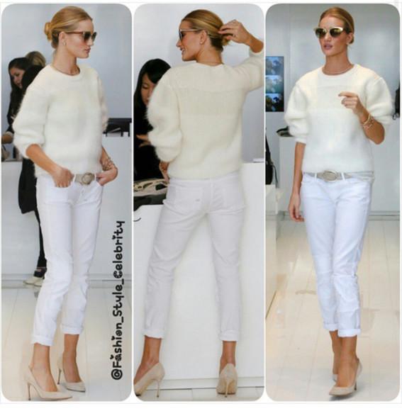 beige shoes all whites rosie huntington-whiteley