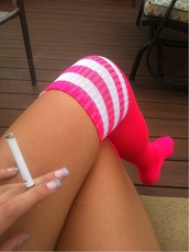 socks,football,high knee,sportswear,hot pink,neon,neon pink,barbie,bubblegum
