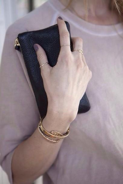 bag black wallet gold black wallet