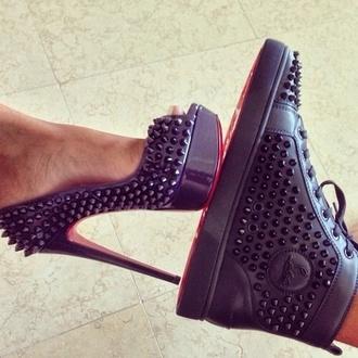 shoes christian louboutin shoes#scarpe#wow#spettacolo❤️ black christian louboutin studed red bottoms louie