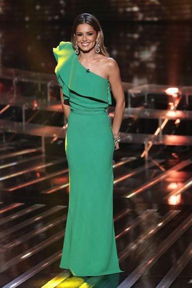 dress prom dress green dress maxi dress cheryl cole