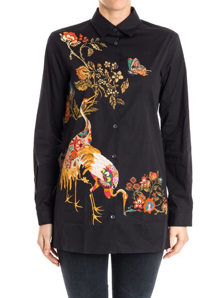 ETRO shirt cotton black top
