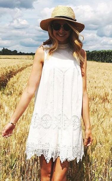 dress zoella white dress summer dress