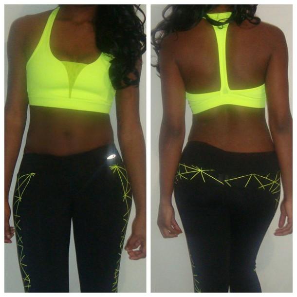top workout workout leggings leggings neon colombia sports bra