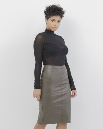 Olive Green Skirt - Shop for Olive Green Skirt on Wheretoget